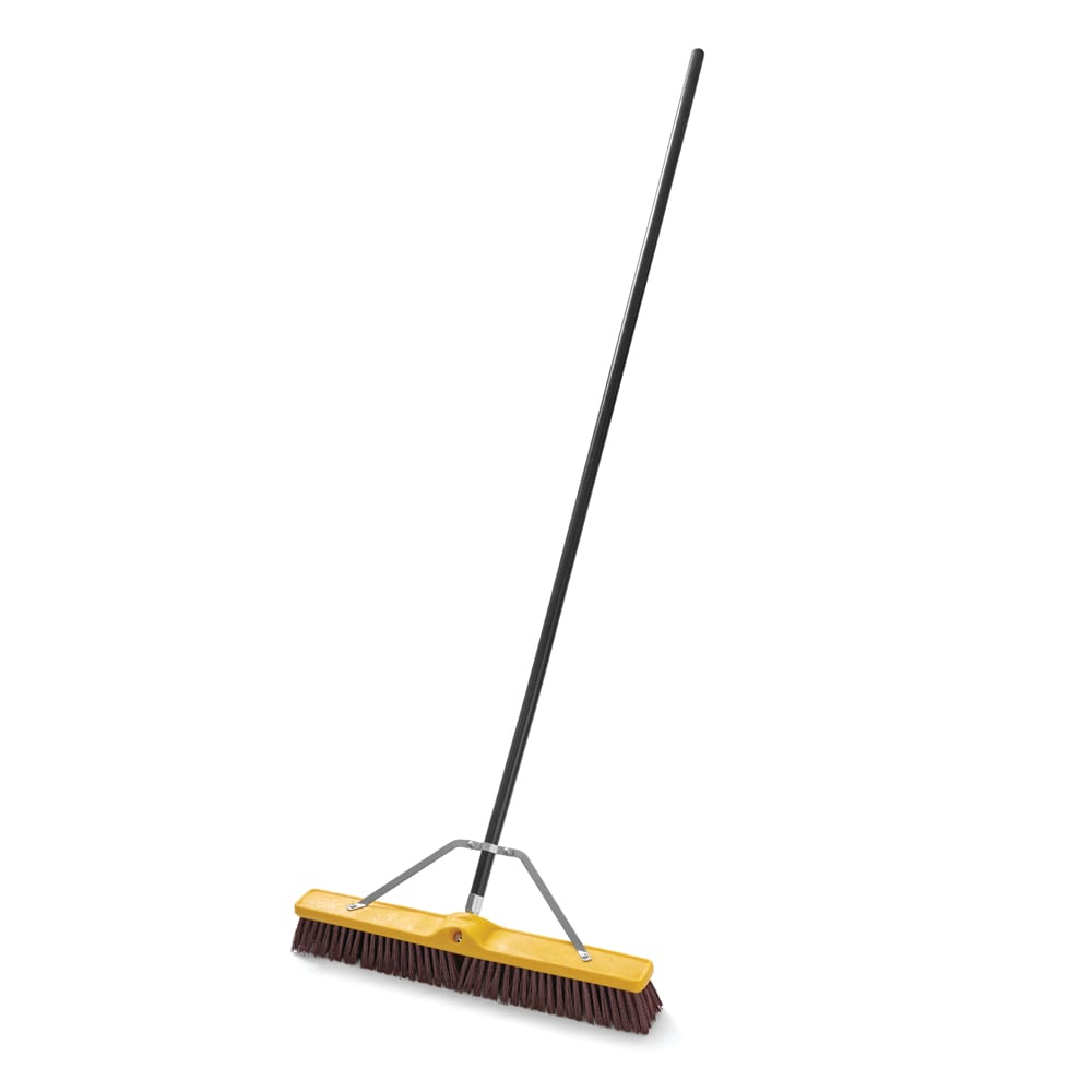 "Rubbermaid FG9B1700MARN 24"" Floor Sweep - Heavy-Duty, Plastic/Poly, Maroon"