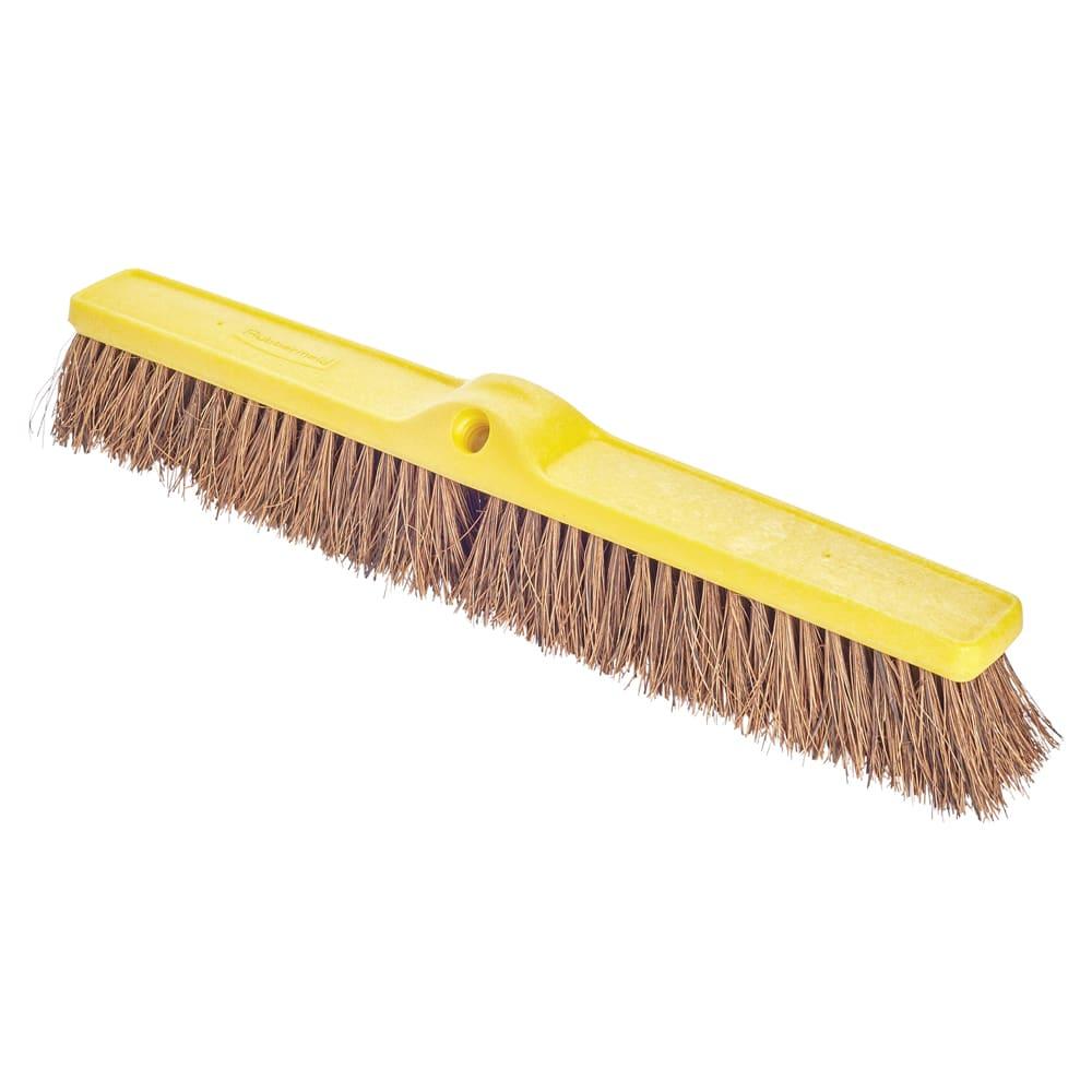 "Rubbermaid FG9B1800BRN 24"" Floor Sweep - Heavy-Duty, Plastic/Palmyra, Brown"