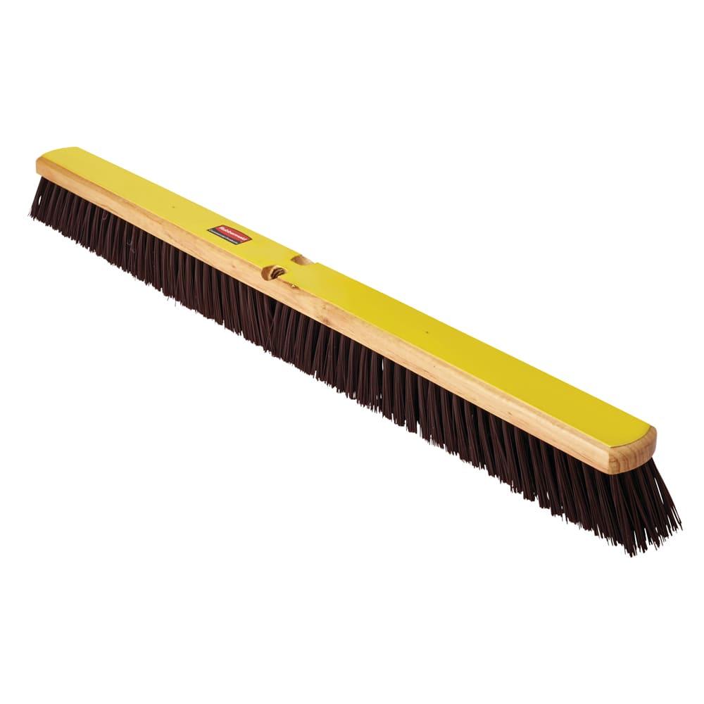 """Rubbermaid FG9B1900MARN 36"""" Floor Sweep - Heavy-Duty, Hardwood/Poly, Maroon"""