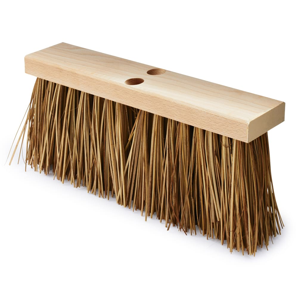 "Rubbermaid FG9B2200BRN 16"" Street Broom - Wood/Palmyra, Brown"