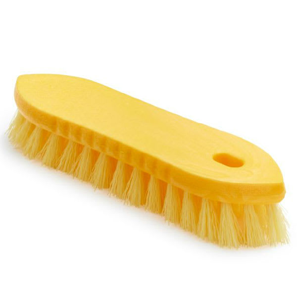 "Rubbermaid FG9B2600 YEL 7.5"" Scrub Brush - Pointed Block, Synthetic Fill, Yellow"