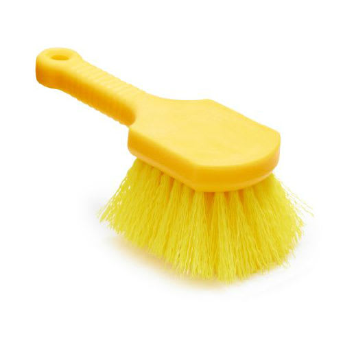 "Rubbermaid FG9B2900 YEL 8"" Utility Brush - Plastic Handle, Synthetic Fill,  Yellow"