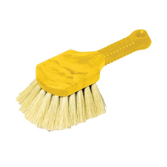 "Rubbermaid FG9B3000 YEL 8"" Utility Brush - Plastic Handle, Tampico Fill, Yellow"