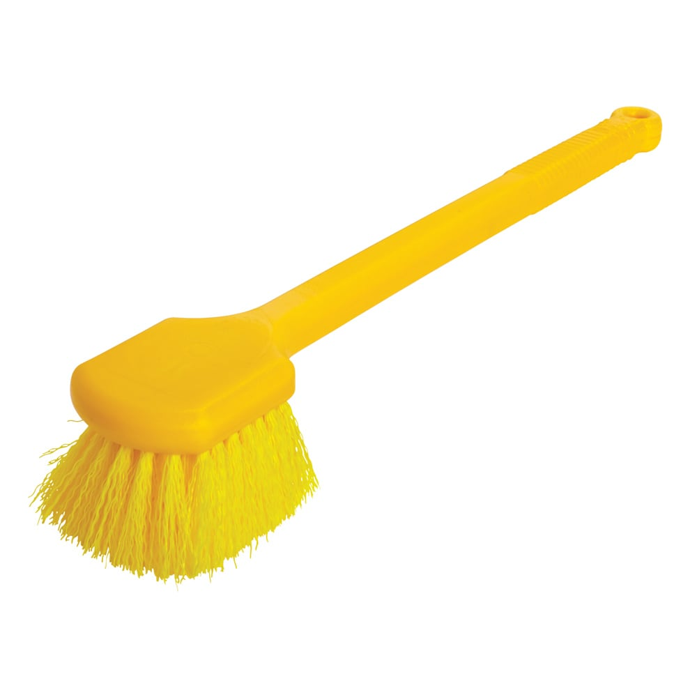 "Rubbermaid FG9B3200 YEL 20"" Utility Brush - Plastic Handle, Synthetic Fill, Yellow"