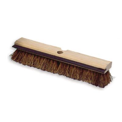 "Rubbermaid FG9B3500 BRN 14"" Deck Brush - Wood Block, Squeegee, Palmyra Fill, Brown"