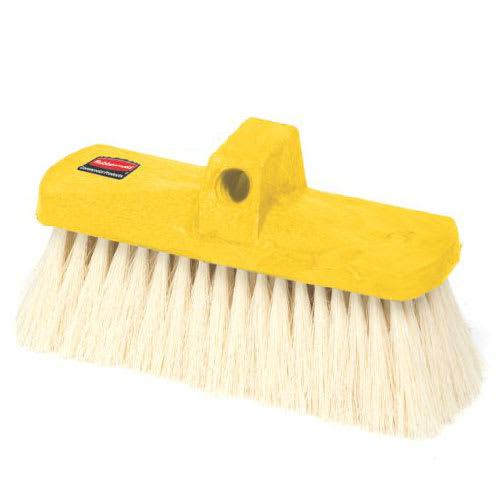 """Rubbermaid FG9B3800 YEL 8.5"""" Wash Brush - Plastic Block, Tampico Fill, Yellow"""