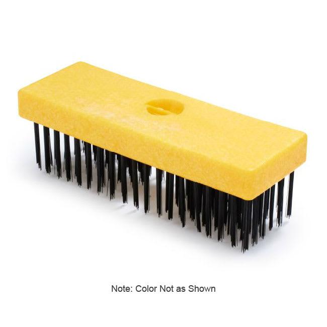 "Rubbermaid FG9B4500 GRAY 7"" Wire Brush - Plastic Butcher Block Handle, Gray"