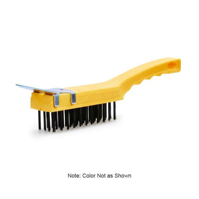 "Rubbermaid FG9B4600 GRAY 11.5"" Wire Brush - Broad Plastic Handle, Gray"