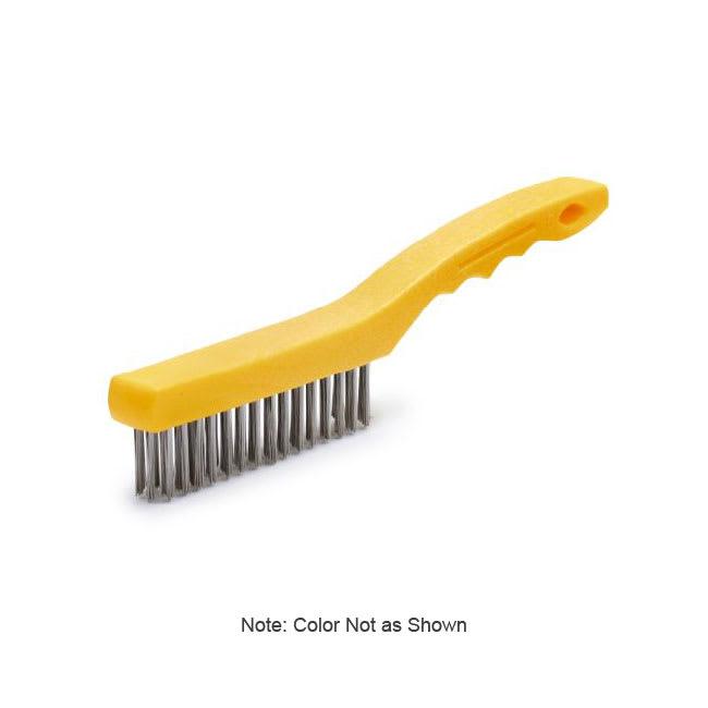 "Rubbermaid FG9B4700 GRAY 11"" Wire Brush - Stainless Steel, Short Plastic Handle, Gray"