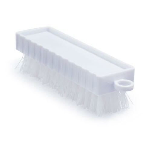 "Rubbermaid FG9B5800 WHT 4.75"" Hand and Nail Brush - Poly Bristles, Plastic, White"