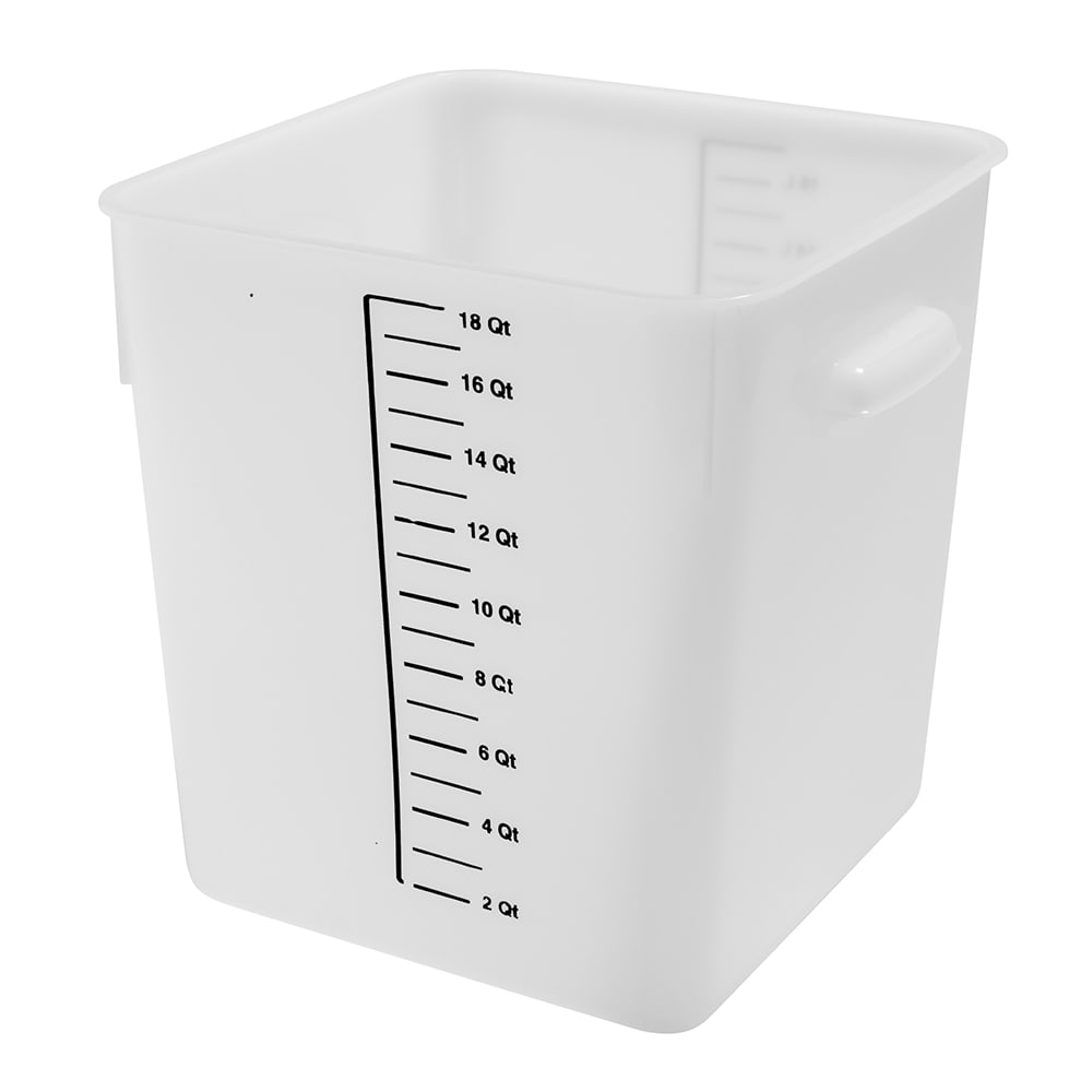 Rubbermaid FG9F0800 WHT 18 qt Square Storage Container - Poly White