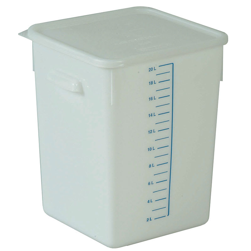 Rubbermaid FG9F0900 WHT 20 qt Square Storage Container Poly White