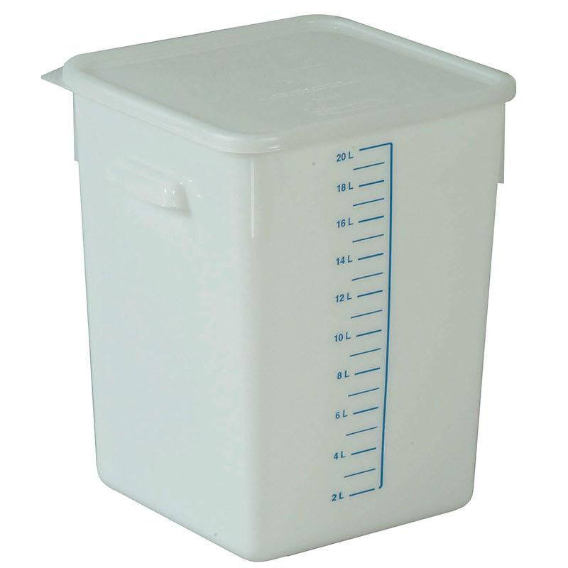 Rubbermaid FG9F0900 WHT 20 qt Square Storage Container - Poly White