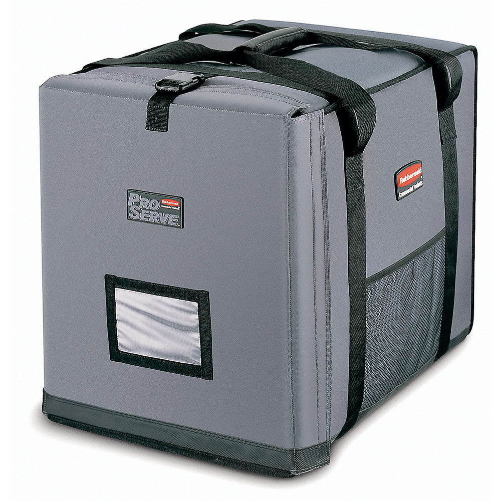 """Rubbermaid FG9F1400CGRAY ProServe Insulated Carrier - 27x21-1/2x29"""", Cool Gray"""
