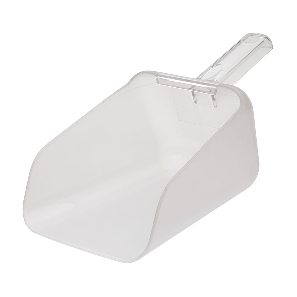 Rubbermaid FG9F7600 CLR 64 oz Bouncer Contour Scoop - Clear