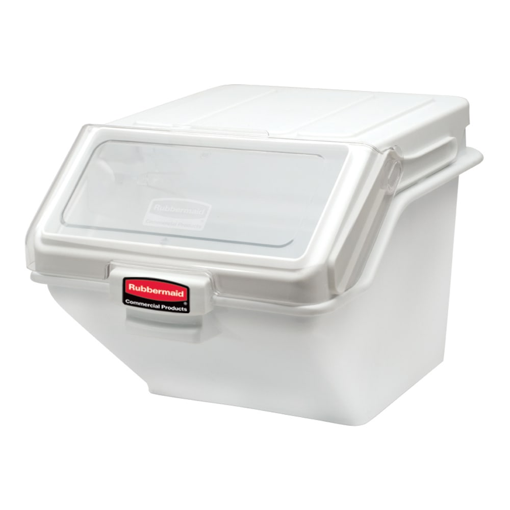 "Rubbermaid FG9G5800 WHT ProSave Safety Storage Bin with Scoop - 200 cup Capacity, 23.5x19.15x16.8"" White"