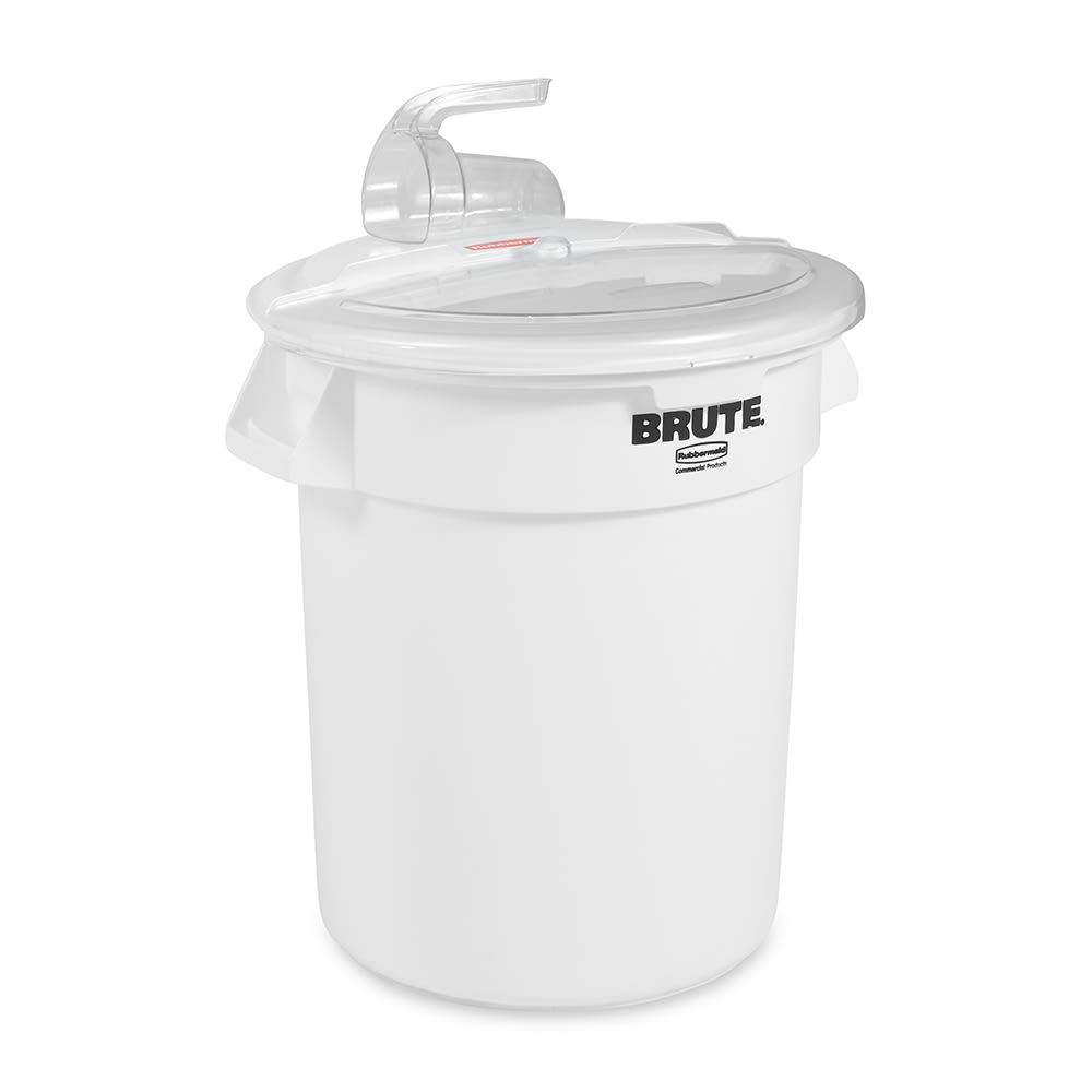 Rubbermaid FG9G7400 WHT ProSave Combo Unit - 250-cup Container, 3-cup Scoop, White