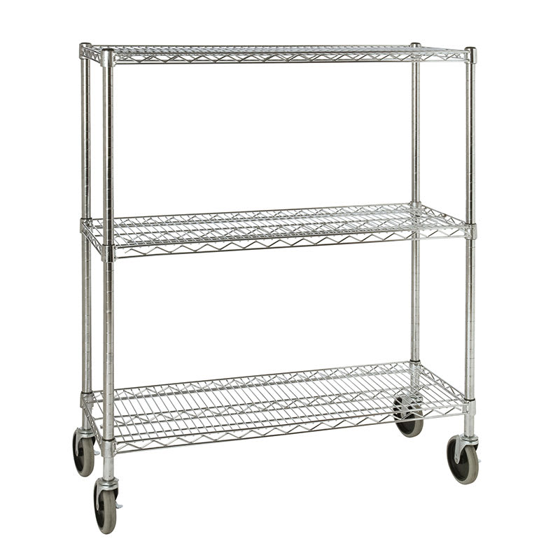 "Rubbermaid FG9G7900CHRM Chrome Wire Shelf Kit - 38""W x 18""D x 48.25""H"