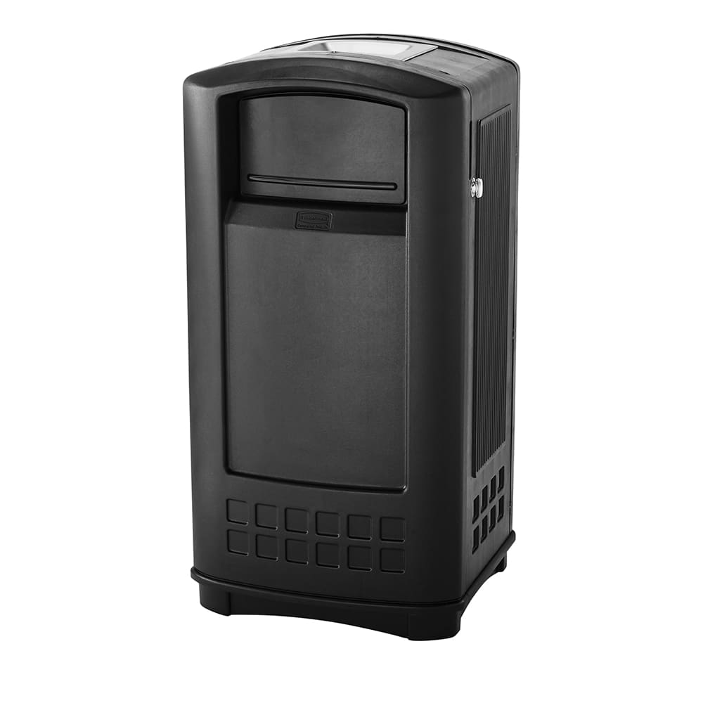 Rubbermaid FG9P9100 BLA Trash Can Top Cigarette Receptacle - Outdoor Rated
