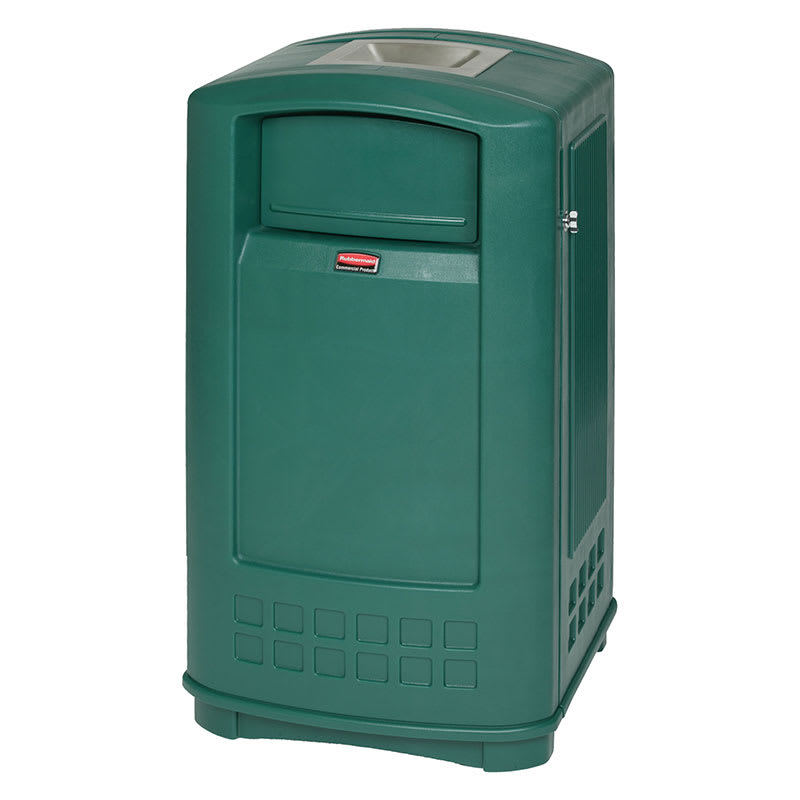 Rubbermaid FG9P9100DGRN Trash Can Top Cigarette Receptacle - Outdoor Rated