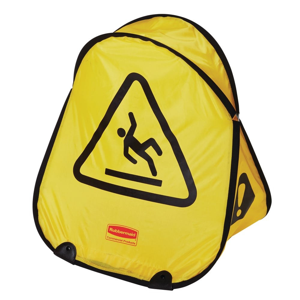 Rubbermaid FG9S0725 YEL Folding Wet Floor Safety Cone - International Symbol, Yellow