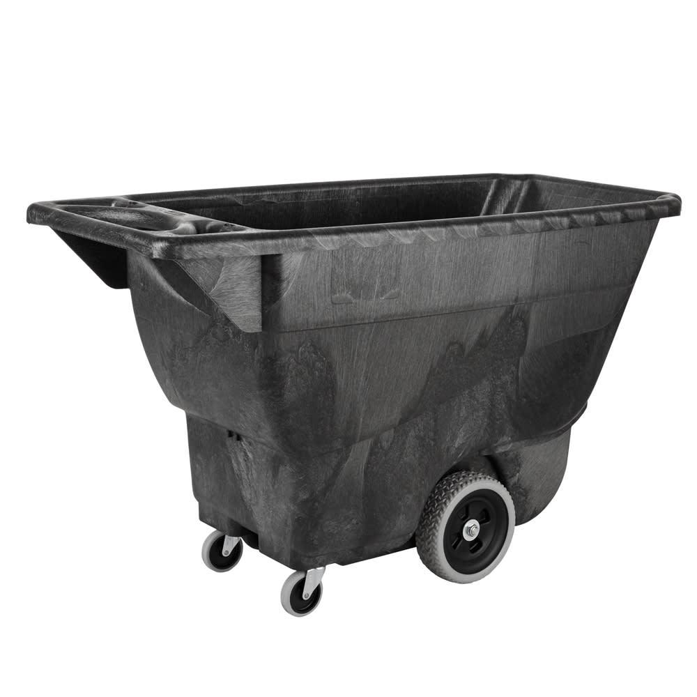 Rubbermaid FG9T1300 BLA .5 cu yd Trash Cart w/ 450 lb Capacity, Black