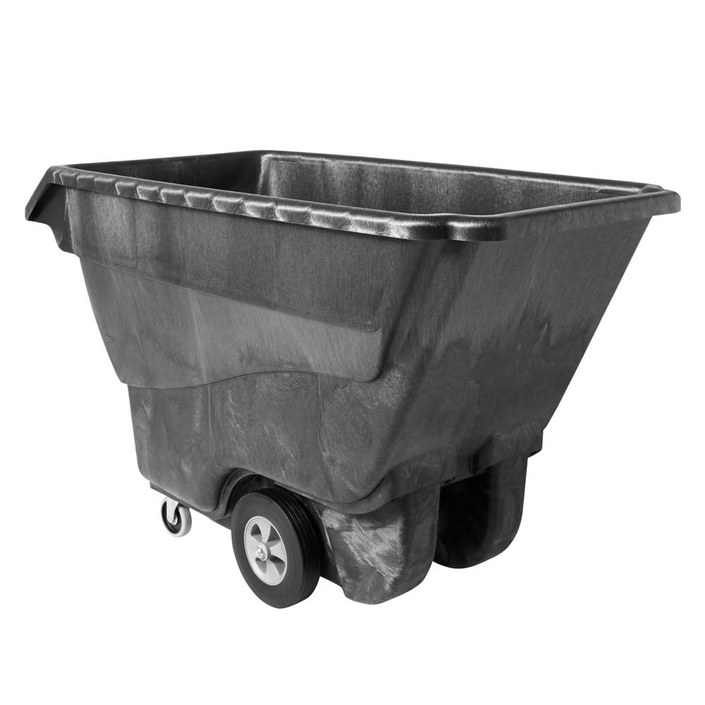 Rubbermaid FG9T1500 BLA 1 cu yd Trash Cart w/ 1250 lb Capacity, Black