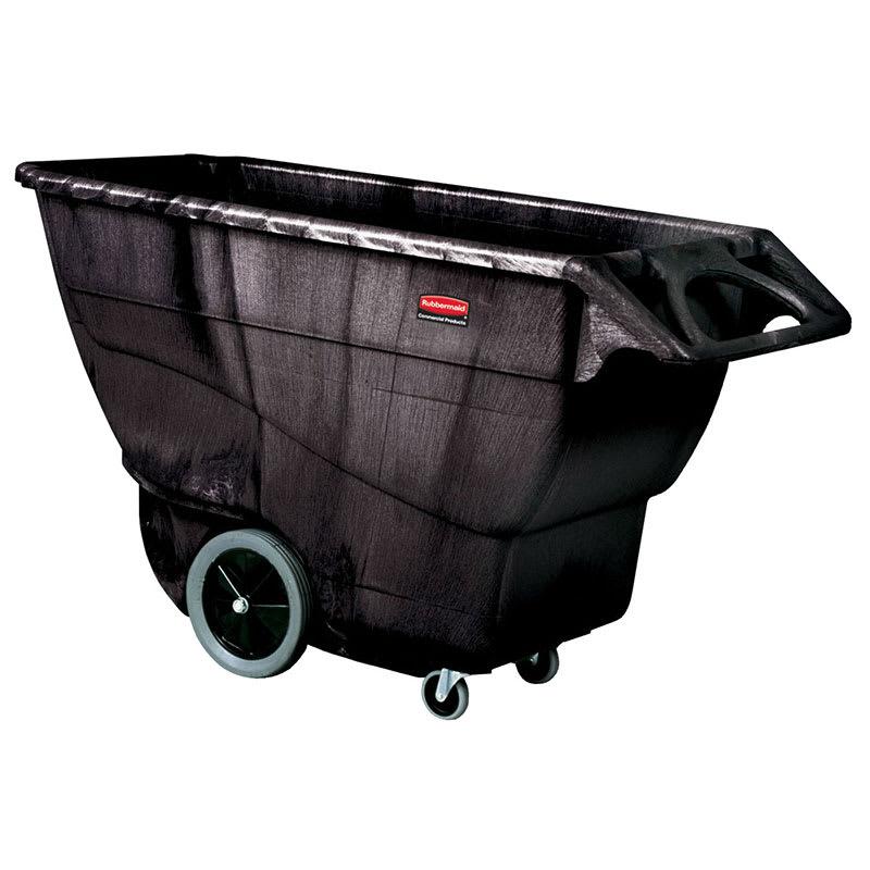 Rubbermaid FG9T1600 BLA 1 cu yd Trash Cart w/ 2100 lb Capacity, Black