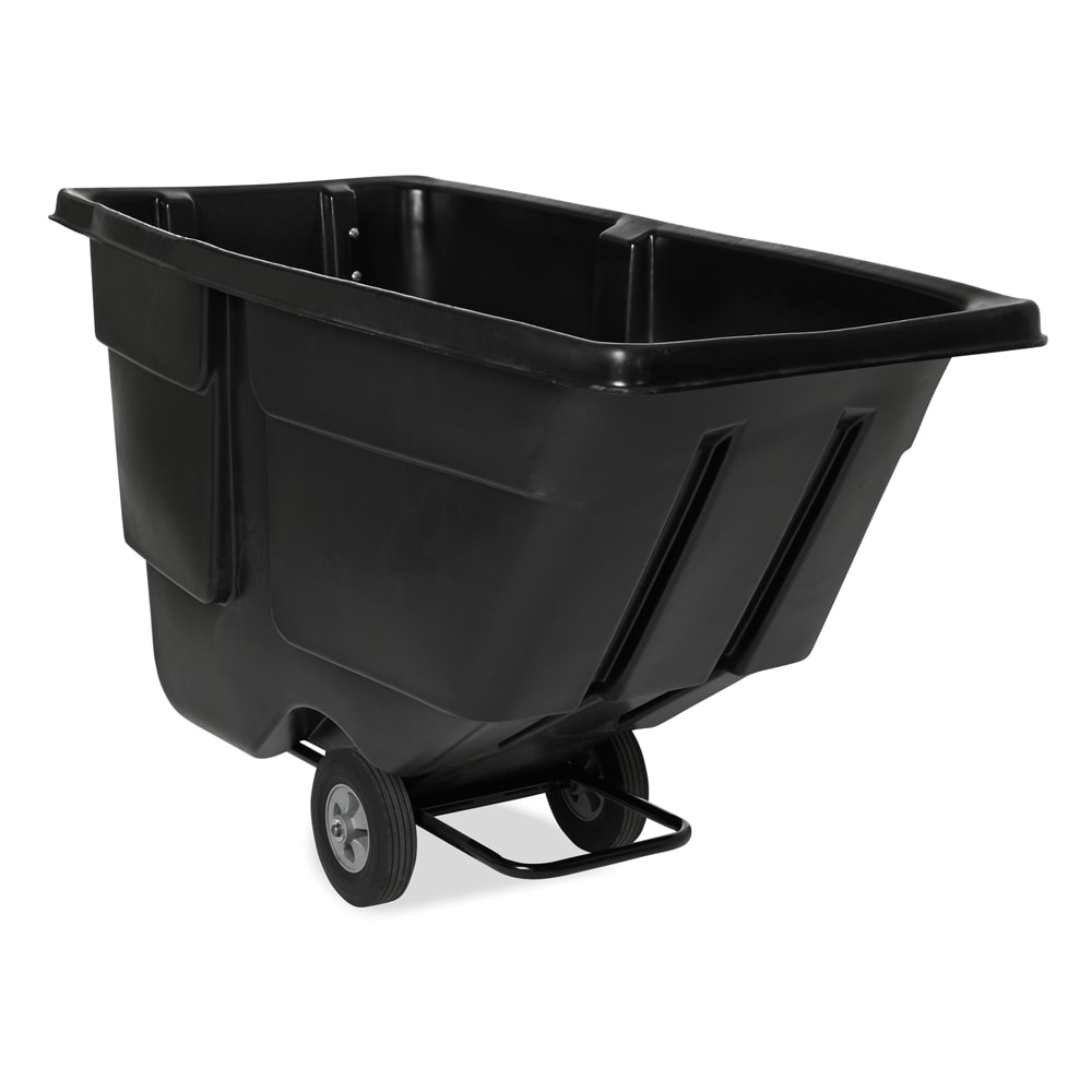 Rubbermaid FG9T1800 1 cu yd Trash Cart w/ 600 lb Capacity, Black