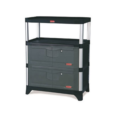 Rubbermaid FG9T4100 BLA Cabinet Kit w/ Doors, Side & Back Panels for 9T36, 9T37, 9T40 & 9T42