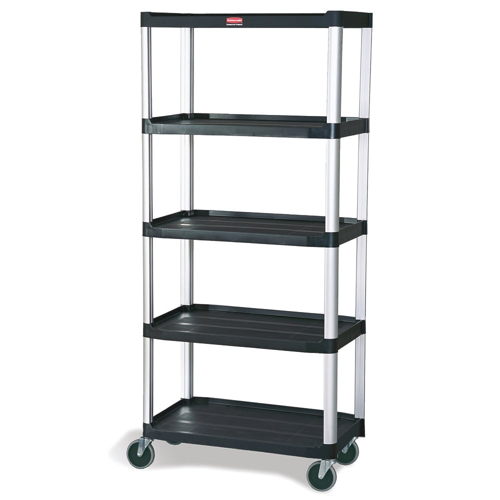 "Rubbermaid FG9T4200 BLA Polymer Solid Shelving Unit - 36.25""L x 20""W x 60""H"