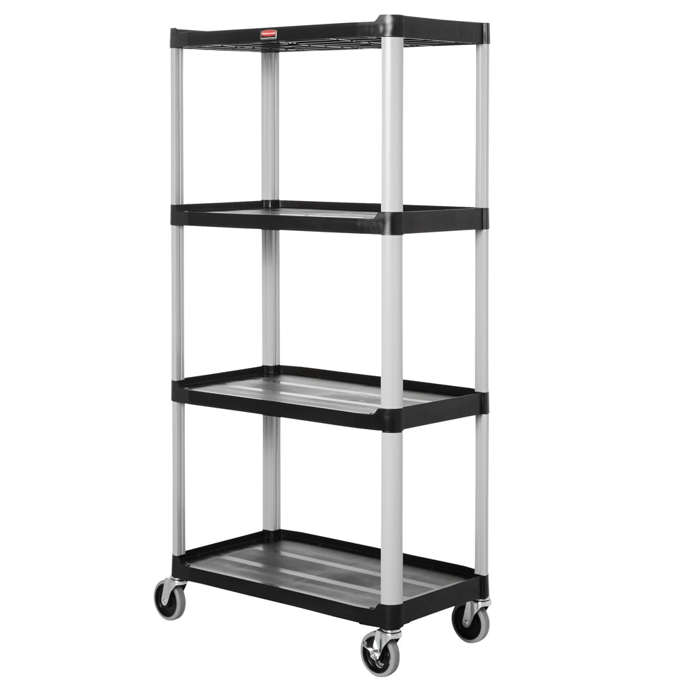 "Rubbermaid FG9T4300 BLA Polymer Solid Shelving Unit - 36.25""L x 20""W x 72""H"