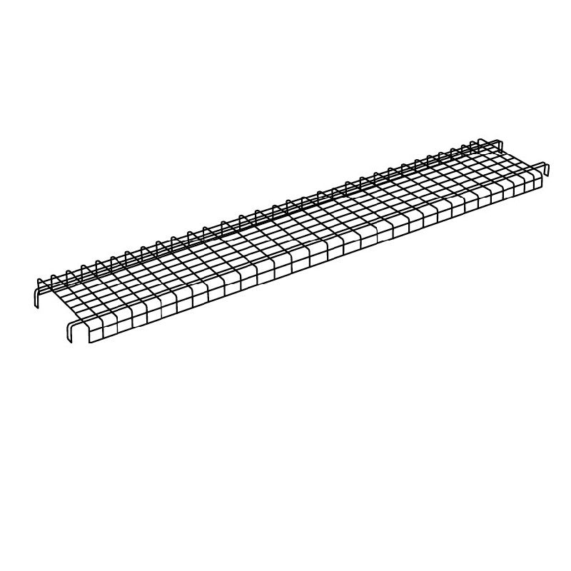 "Rubbermaid FG9T4800 StockMate Wire Shelf - 200-lb Capacity, 64x15x3"" Black"