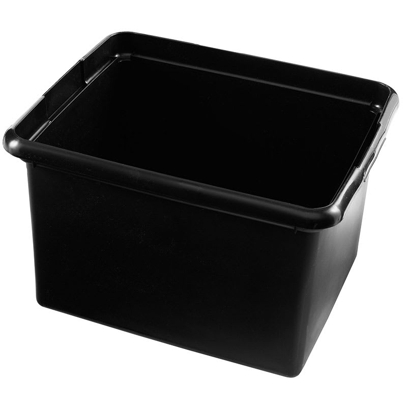Rubbermaid FG9T8400 BLA 30-qt Cleaning Cart Bin - Black