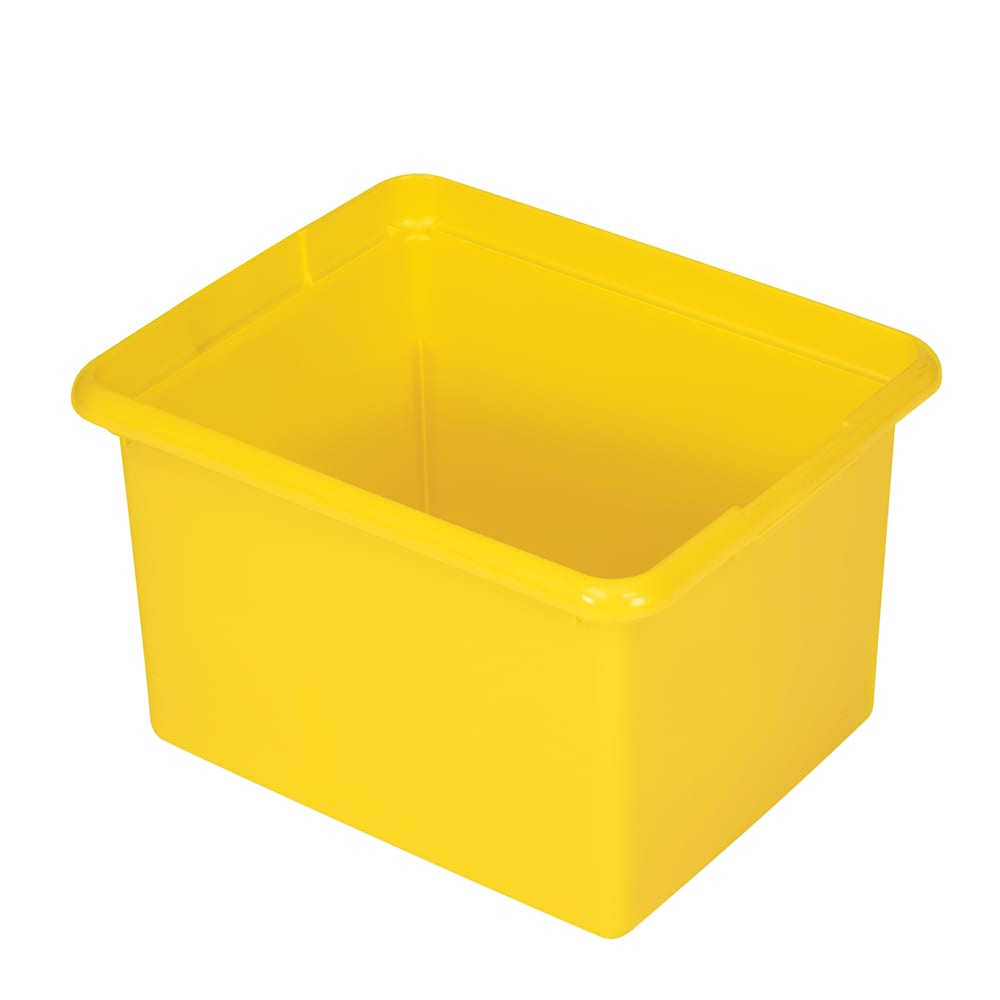 Rubbermaid FG9T8400 YEL 30-qt Organizing Bin - Yellow