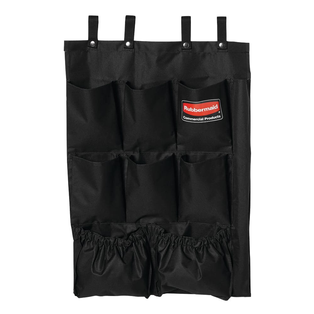 Rubbermaid FG9T9000 BLA 9 Pocket Fabric Organizer Cart Caddy