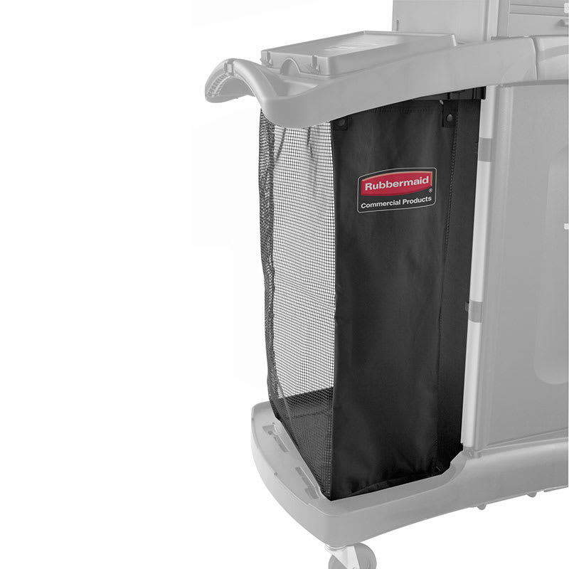 Rubbermaid FG9T9101BLA Fabric Mesh Linen Bag for Housekeeping Carts, Black