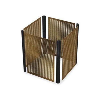 Rubbermaid FG9W5000 BRNZ 35-gal Infinity Square Perforated Panel Kit - Bronze
