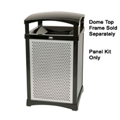 Rubbermaid FG9W5000 SILV 35-gal Infinity Square Perforated Panel Kit - Silver