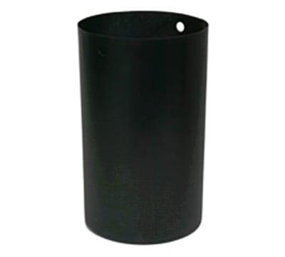 Rubbermaid FG9W6288 BLA 32-galRound Rigid Trash Can Liner, Plastic - Black