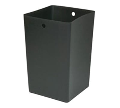 Rubbermaid FG9W6400 BLA 50-gal Square Rigid Trash Can Liner, Plastic - Black