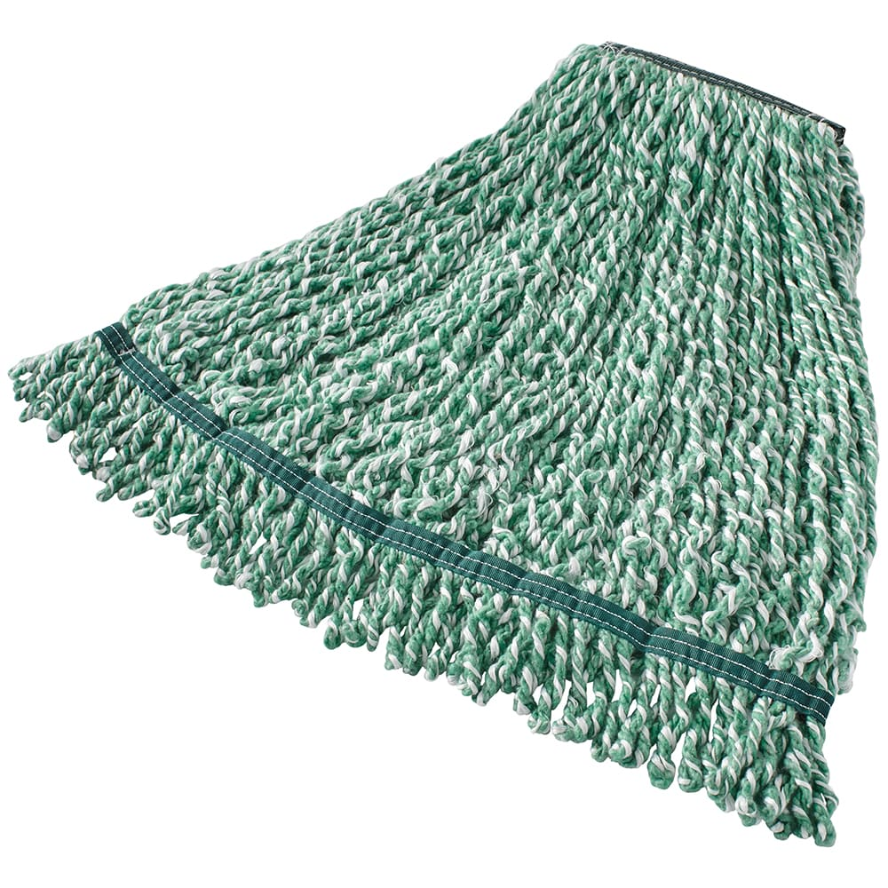 "Rubbermaid FGA81206GR00 Medium String Mop Head - 1"" Headband, Microfiber/Yarn Blend, Green"