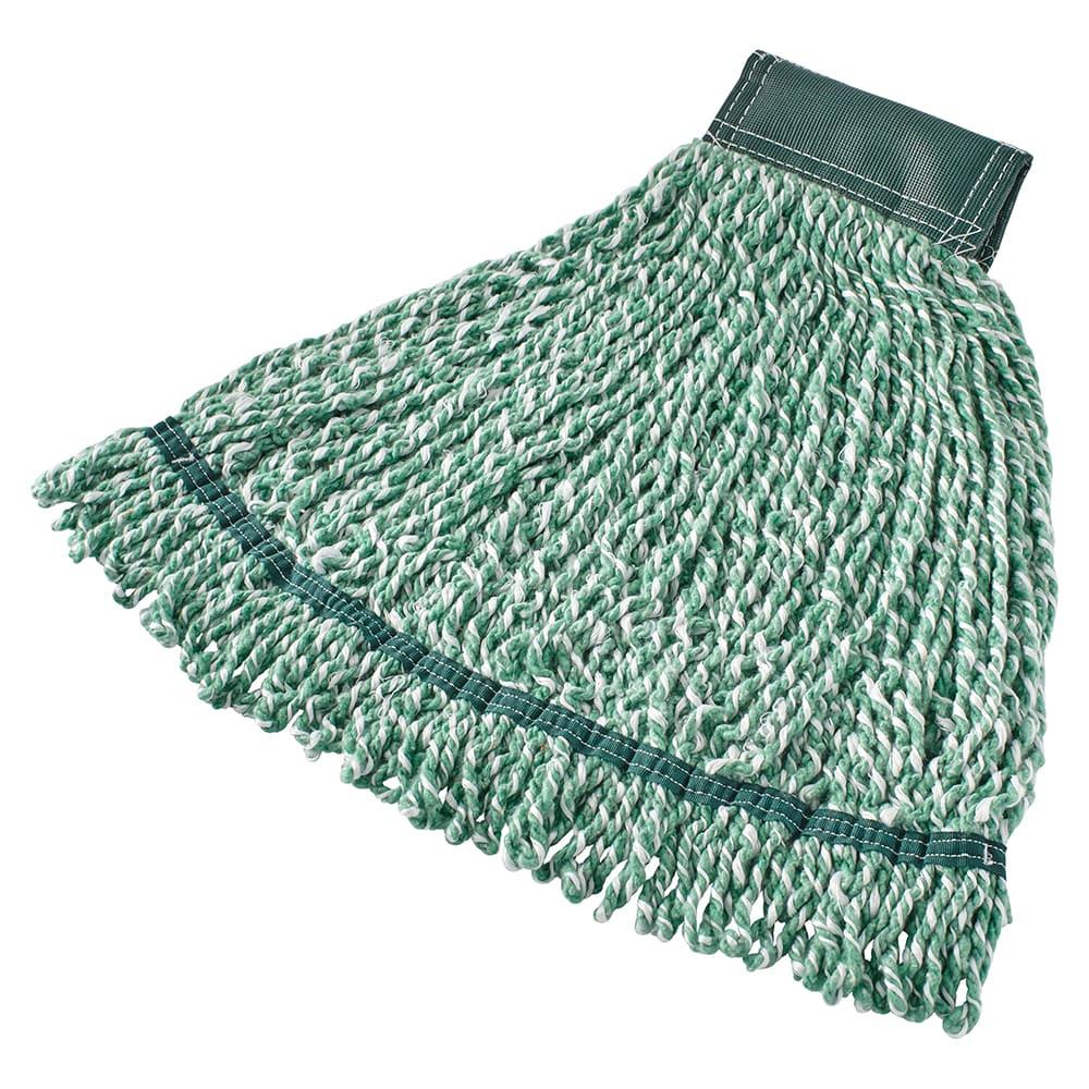 "Rubbermaid FGA85206GR00 Medium String Mop Head - 5"" Headband, Microfiber/Yarn Blend, Green"