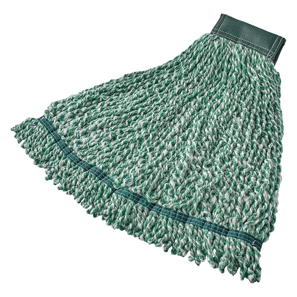 "Rubbermaid FGA85306GR00 Large String Mop Head - 5"" Headband, Microfiber/Yarn Blend, Green"
