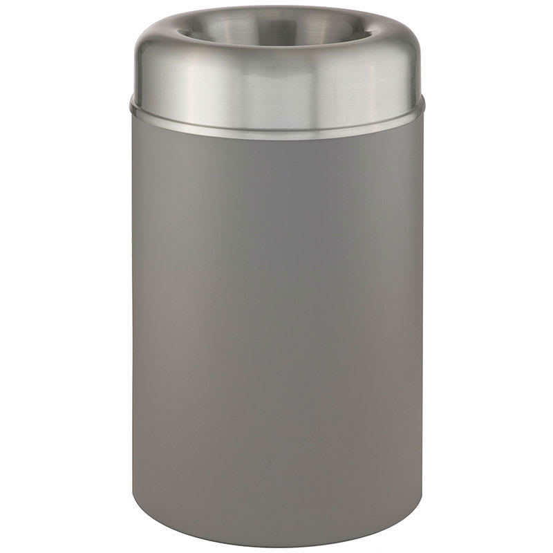 Rubbermaid FGAOT30SAGRPL 30-gal Indoor Decorative Trash Can - Metal, Gray