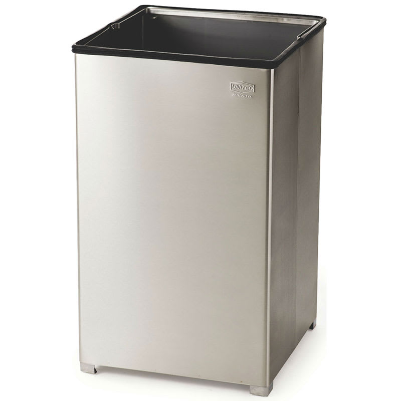 Rubbermaid Fgb1940ssrb 40 Gallon Commercial Trash Can Metal