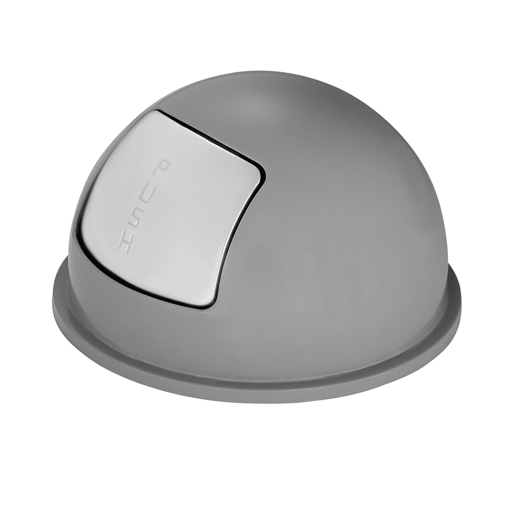 Rubbermaid FGBBT1529GR Round Dome Trash Can Lid - Plastic, Gray