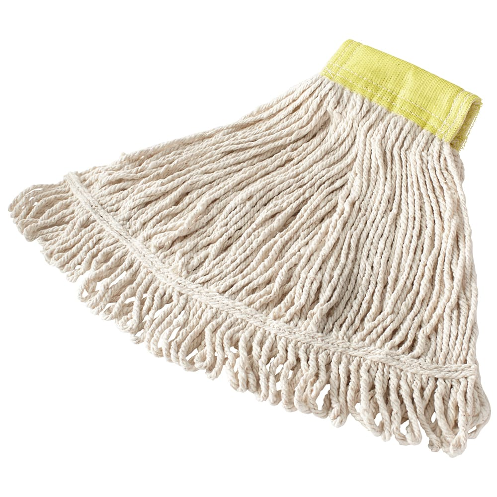 "Rubbermaid FGD25106WH00 Super Stitch Small Mop Head - 5"" Headband, 4 Ply Cotton/Synthetic, White"