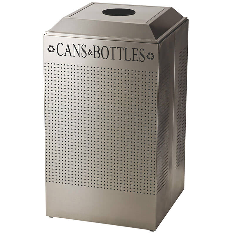 Rubbermaid FGDCR24C DP 29-gal Cans Recycle Bin - Indoor, Decorative