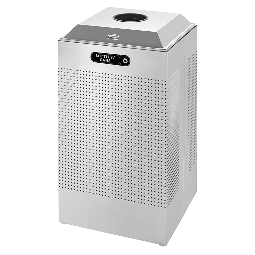 Rubbermaid FGDCR24C SM 29-gal Cans Recycle Bin - Indoor, Decorative